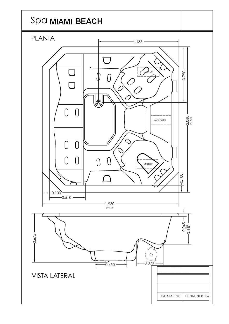 planos hidromasaje spa miami beach