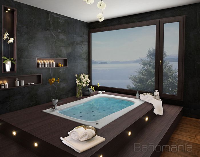 Ba omania todo en hidromasajes vanitorys duchas y m s for Banos modernos con jacuzzi y regadera