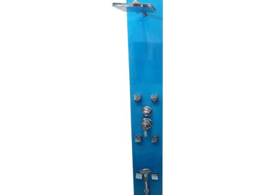 Ducha escocesa de vidrio azul